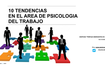 10 Tendencias en el área de psicología del trabajo